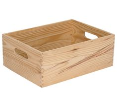 Caja de madera BASIC Caja de madera de pino macizo natural. Medidas: 30 x 15 x 40 cm (ancho x alto x fondo).