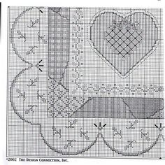 DESIGN CONNECTION patchwork heart quilt sampler