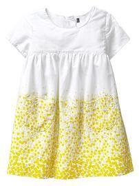 Cascade dot dress