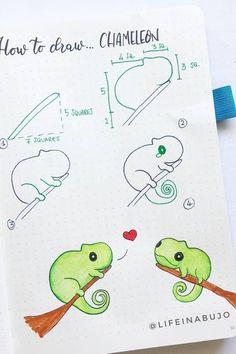 Easy Doodles Drawings, Easy Doodle Art, Cute Easy Drawings, Simple Doodles, Bullet Journal Notebook, Bullet Journal Ideas Pages, Bullet Journal Inspiration, Tier Doodles, Doodle Art For Beginners