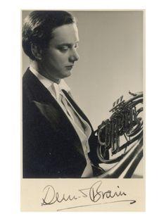 Dennis Brain Musician: Legendary French Horn Player Photographic Print