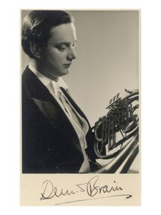 Dennis Brain Musician: Legendary French Horn Player Photographic Print  the greatest hornist ever!