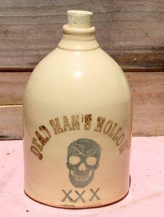 Dead Man's Hollow Skull  jug by MoonshineJug on Etsy, $32.00