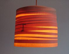 Wooden Path Veneer Lampshade By Vayehi On Etsy