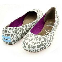 White Leopard Ballet Flats