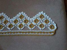 HUZUR SOKAĞI (Yaşamaya Değer Hobiler) Crochet Borders, Crochet Squares, Crochet Doilies, Crochet Lace, Baby Knitting Patterns, Crochet Patterns, Tassels, Diy And Crafts, Crochet Earrings