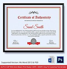 Certificate of completion template 31 free word pdf psd eps certificate of authenticity template what information to include certificate of authenticity template yadclub Image collections