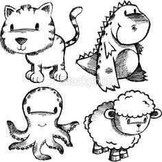 animal doodles | Search for stock photos, illustrations, video, audio and editorial ...