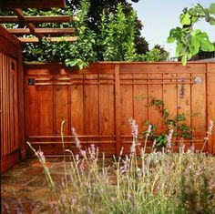 craftsman-style privacy fence