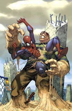 brooks comics spiderman vs sandman The comic artist Mark Brooks and his superheroes Marvel Comics, Arte Dc Comics, Hq Marvel, Marvel Villains, Top Villains, Rogue Comics, Marvel Memes, Captain Marvel, Comic Book Characters
