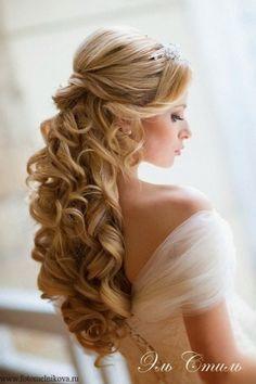 peinados para fiesta de noche cabello suelto largo - Buscar con Google