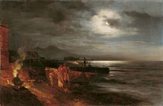 Oswald Achenbach, The Athenaeum - The Bay of Naples by Moonlight
