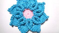 3d crochet flower No- 8