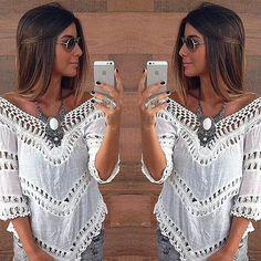 Aliexpress.com: Compre Mel MODA novo MODA feminina blusa branca escavar blusa patchwork de renda sexy blusa de confiança blusa camisa fornecedores em High-end Fashion Women Clothing