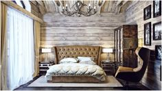 Interior design in the style of a chalet