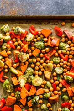 Sprouting Sweet Potatoes, Roasted Sweet Potatoes, Salad With Sweet Potato, Sweet Potato Recipes, Savoury Recipes, Brussle Sprouts, Chickpea Recipes, Vegan Recipes, Healthy Menu
