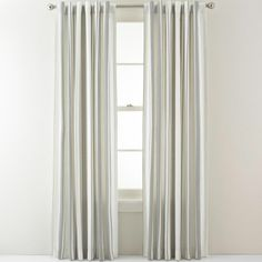 jcpenney - Royal Velvet® Arden Stripe Back-Tab Curtain Panel - jcpenney
