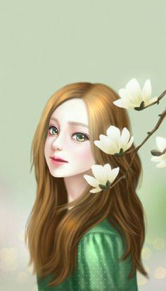 gambar Enakei, lovely girl, and art Korean Illustration, Illustration Girl, Amazing Drawings, Beautiful Drawings, Anime Korea, Lovely Girl Image, Girly Drawings, Cute Girl Wallpaper, Digital Art Girl