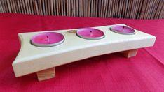 Handmade Wooden 3 Tealight Holder | eBay Tea Light Holder, Christmas Projects, Handmade Wooden, 3d Design, Tea Lights, Diy And Crafts, Candle Holders, Woodworking, Crafty