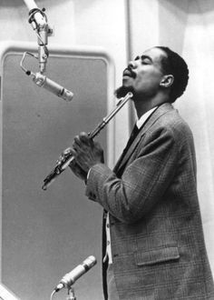 "eric dolphy, jazzman, alto saxophonist, flautist, and bass clarinetist .. ""I am the hole on the flute that Gods breath flows through"" ..."