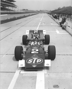 Mario Andretti Lotus STP car 1969 - the car he crashed, the day before Pole day - ended up winning his only Indy 500 with the (back-up) Hawk.