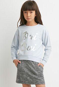 Girls Oui Graphic Sweatshirt (Kids)