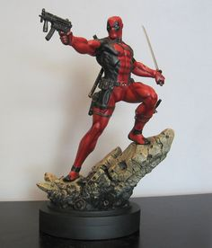 Deadpool Statue Designed and sculpted by the Kucharek Brothers. Bowen Designs best selling statue for 2013.