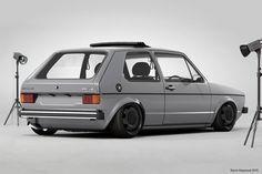 VW Golf Ⅰ   Lowered, Slammed