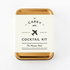 A mini cocktail kit makes a perfect hostess gift.