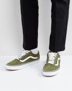 cc20261ff5f Vans Old Skool Canvas Sneakers In Green VA38G1OW2 Green Vans