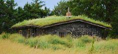 19th century sod house on the Prairie