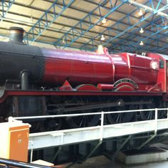 Hogwart's Express at the National Railway Museum in York, UK.