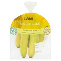 Tesco Ripe Bananas 5 Pack - Groceries - Tesco Groceries