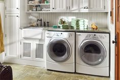 Laundry Room Ideas     Photo: Nathan Kirkman | thisoldhouse.com | from Read This Before You Redo Your Laundry Room
