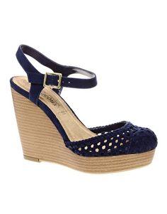 New Look EC Yarn Woven Wedge Sandals