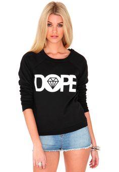 Ofelita Dope Slogan Sweater In Black