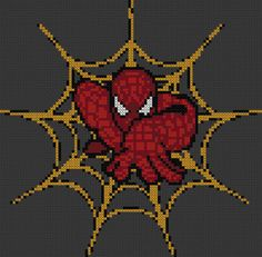 Marvel Cross Stitch Pattern - Crawling Spiderman - 14ct Aida by StunningCrossStitch on Etsy