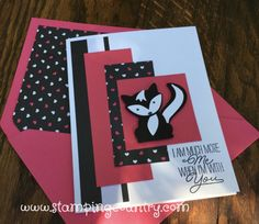 handmade card ... Foxy Friends ... Stampin' Up! ... cute skunk punch art ...