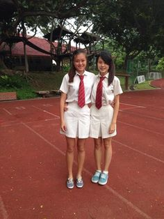 School Wear, School Uniform Girls, Girls Uniforms, Girls School, School Uniforms, Cute Girl Dresses, Cute Outfits, Singapore School, Secondary School
