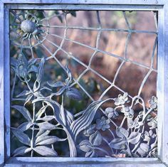 Wrought iron spider web