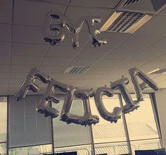 Bye felicia funny balloons leaving party idea  Individual balloon lettering from partyrama