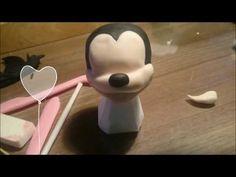MINNIE/MICKEY MOUSE TUTORIAL DE MODELADO DE CARAS EN PORCELANA FRIA - YouTube