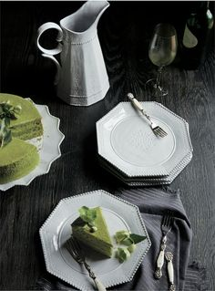 Anthropologie Catalog Photo: Simon Watson Prop Styling: Amy Chin  green tea cake, dessert, astier