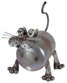 Tubby Kat - Fun Yard Art Made in the USA from recycled metals.
