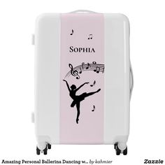 Amazing Personal Ballerina Dancing with Music Pink Luggage