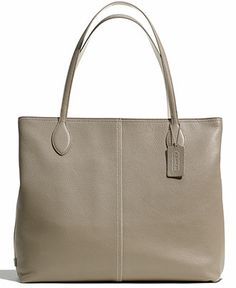 Coach tote in leather, Gray