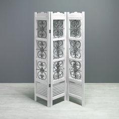 Dekorativer Paravent in Weiss - ein Blickfang im Shabby-Chic