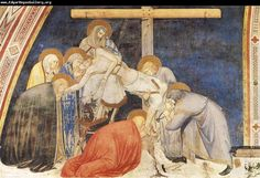 Situated in the left transept of the lower church, this is a representation of the deposition, the taking of Jesus' body down from the cross, painted by Pietro Lorenzetti early in the fourteenth century.