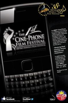 Calling all students who wish to be the next Brillante Mendoza. Make good use of your camera phones by joining the first ever Cine-Phone Film Festival sponsored by the Metro Manila Development Authority.