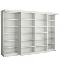 Awesome parting bookcases Murphy Bed | Abbott Library Murphy Bed in White